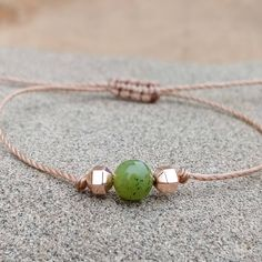 """Increase your luck with this dainty Canadian jade bracelet :)"" Hematite Bracelet, Lava Bracelet, Bracelet Making, Simple Bracelets, Cord Bracelets, Ankle Bracelets, Essential Oil Jewelry, Bead Shop, Gifts For Friends"