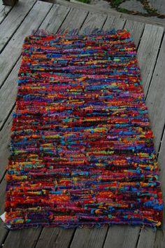crazy as a loom weaving rag rugs solmate sock rugs blue jean rugs ...