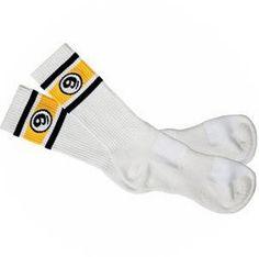 Sector Nine Skateboards Sector Nine Ball Logo Socks - White (1 Pair)