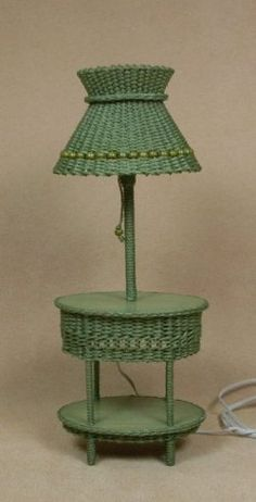 Classic Oval Table Lamp in Fern Green