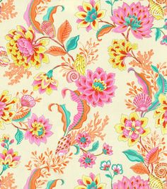 Home Dec Print Fabric-Laurette Design Diver's Paradise Mimosa
