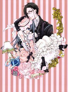 Sebastian Michaelis and Ciel Phantomhive Sebastian X Ciel, Black Butler Sebastian, Ciel Phantomhive, Manga Art, Manga Anime, Anime Boys, Black Butler Manga, Black Butler Characters, Sebaciel