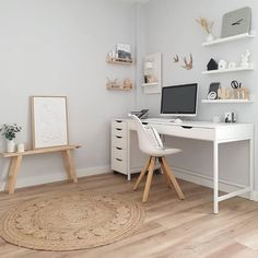 Home Decor – Decor Ideas – decor Room Design Bedroom, Room Ideas Bedroom, Home Room Design, Home Office Design, Home Office Decor, Bedroom Decor, Home Decor, Teen Bedroom Desk, Bedroom Inspo