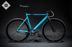 Custom Track Bike   6061 Black Label - Laguna Blue   State Bicycle Co.