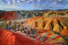 rainbow mountains china | Brian Kelly's Blog: Rainbow Mountains In China's Danxia Landform ...