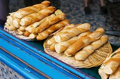 Common food: french baguettes