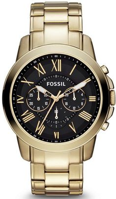 FS4815 - Authorized Fossil watch dealer - MENS Fossil GRANT, Fossil watch, Fossil watches
