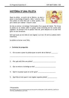 Preguntes explicites Catalan Language, Lectures, Valencia, Conte, Comprehension, Activities, School, Reading Comprehension, Reading Comprehension