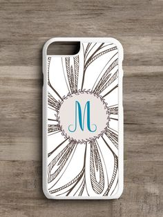 Monogrammed Flower- Cell Phone Case