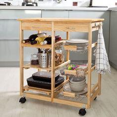 1PLUS mobiler Küchenwagen aus Holz, Bärbel, Bambus | Bambus ... | {Küchenwagen holz 83}