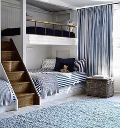Bunkbed with stairs in shared bedroom
