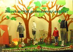 Olivia in Wonderland, shop window display, vitrine, kids store.