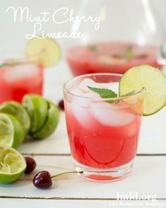 This mint cherry limeade is the perfect refreshing drink for any time of the year #lmldfood