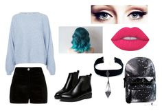 """Untitled #185"" by nikkidoesntcare on Polyvore featuring River Island, Rodebjer, WithChic, Lime Crime and Child Of Wild"