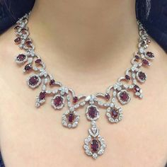 Gorgeous Burmese unheated rubies set with marquise and circular-cut diamonds -christies @jewelryblogram