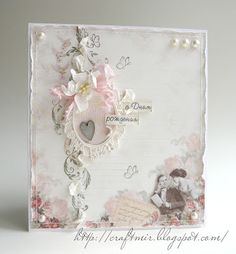 Sweet card.....I love the little oval with a heart inside.