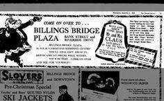 Billings Bridge Plaza Christmas 1965