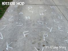 Letter Hop. A fun game for little ones!