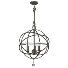 "Dressing area - Eclipse Chandelier - English Bronze 12"" from Z Gallerie $239"