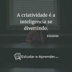 A  criatividade é a inteligencia se divertindo.