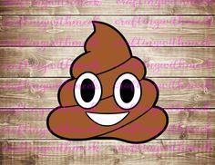 Cacca Emoji in formato SVG di CraftingWithMeek su Etsy