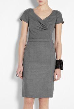 cute grey dress for work
