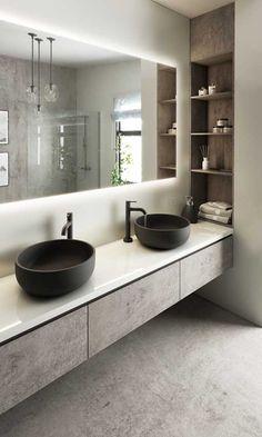 Bathroom Design Luxury, Modern Bathroom Design, Interior Design Kitchen, Washroom Design, Toilet Design, Bad Inspiration, Bathroom Inspiration, Dream Bathrooms, Small Bathroom