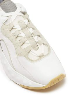 533d9bbbd5103 Acne Studios  Manhattan Nappa  contrast trim panelled leather sneakers   Manhattan Nappa Acne