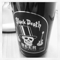 Black Death Beer - Stout. Viking Brewery, Iceland. A strong roast presence with a mild coffee note. Sweet malt backs up the roast with a bitterness in the finish.