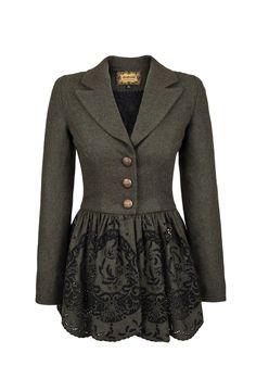 Lena Hoschek - Pushkin Jacket in moss - Autumn Winter 2013/14