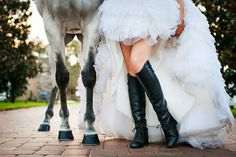 A great Equestrian shot! {fairy tale wedding, fairytale,white horse}
