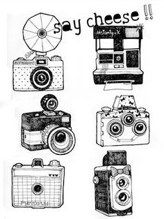 hand drawn cameras - swoon!