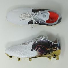 online retailer 38511 937d6 Adidas Adizero 5-Star 5.0 Uncaged Pirate Football Cleats White Gold (  D70179 )