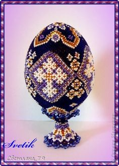 EyeCandy (Patterns not available) - Beautiful Beaded Easter Eggs by Svetlana featured in recent Bead-Patterns.com Newsletter!