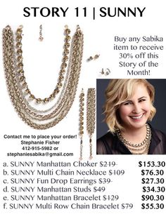 Sabika Jewelry Story of the Month in April! Contact me, Stephanie Fisher, at: stephaniesabika@gmail.com or 412-915-5982