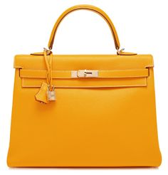 Ltd Edition Candy Collection 35Cm Jaune D'Or Leather Retourne Kelly $19,500