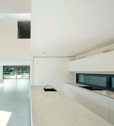 modern kitchen with Dekton countertop & flooring