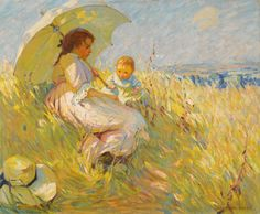 Dorothea Sharp, Cornfield in Summertime, n.d., oil on canvas, 76 x 91.5 cm, private collection. This is one of many instances in which McNicoll and Sharp tackled the same subject. In some cases, the works are so similar that they have been misattributed by critics to one or the other artist. #ArtCanInstitute #CanadianArt