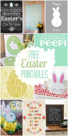 A collection of 40+ FREE Easter printables!! All so adorable and perfect for decorations, tags, and crafts! { lilluna.com }