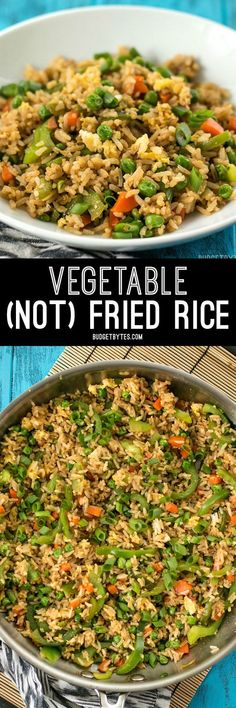 Vegetable NOT Fried Rice is a fast, easy, and lighter alternative to take out. Makes a great lunch or base to build on for dinner.