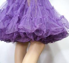 Crinoline Petticoat Vintage Purple Half Slip Tutu Skirt Can Can Square Dance Petticoat Swing Skirt on Etsy, $39.00