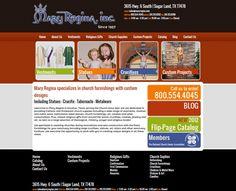 Mary Regina church supplies, crucifixes, vestments, custom church projects, orange, red, black, blue logo, website design modern website design, blog