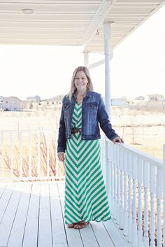 My April 2015 @stitchfix review!  Morrie Denim Jacket #stitchfix #shrinkingjeans