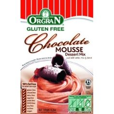 This mousse is extremely quick and easy to make and as it's made by Orgran it is free from most of the major allergens.  It makes a great pudding and you can decorate the top with chocolate shavings and dairy free cream.