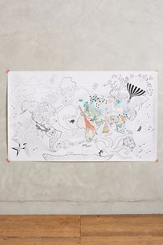 Let's Travel Coloring Mural