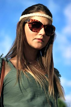 Festival Time with Camyla Mendes headband. 70`s, boho style.