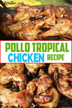 A tasty Caribbean chicken inspired Pollo Tropical Chicken recipe with tropic pollo marinade to cook on the grill. A tasty Caribbean chicken inspired Pollo Tropical Chicken recipe with tropic pollo marinade to cook on the grill. Grilling Recipes, Gourmet Recipes, Cooking Recipes, Budget Recipes, Budget Dinners, Weekly Recipes, Grilling Ideas, Recipes Dinner, Drink Recipes
