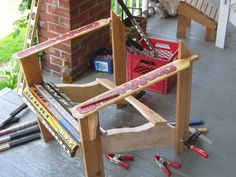 How to make a hockey stick chair