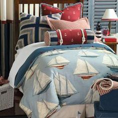 For a boy's bedroom. Eastern Accents Liberty Button-Tufted Bedding Collection | Wayfair