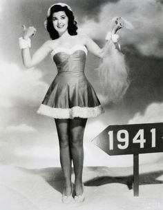 Ann Rutherford hitching a ride into the New Year.